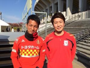 今回の1枚は、先日瑞穂陸上競技場で行われたトークショーで一緒だった名古屋グランパスで日本代表にも選ばれていて、プライベートでも親交がある、田口泰士くんです。